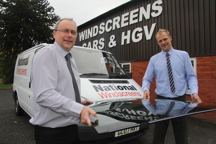 John Smallman and James Morgan of National Windscreens who own fitting centres in Telford, Oswestry and Wolverhampton.