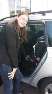 Staff from Simply Baby fit our new car seat