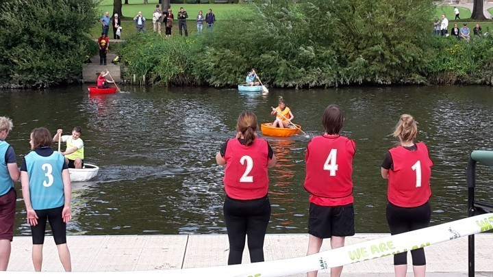 Shrewsbury coracle race raises thouands of pounds for charity