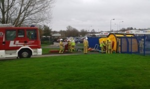 Fire Service training exercise at The Space Plce