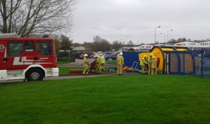 Fire service turns Telford business into training ground