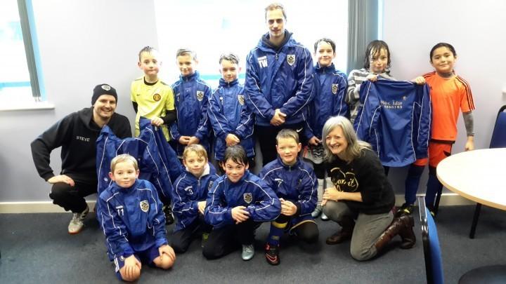 Shropshire tutoring business sponsors junior football club