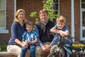 Mike and Jo Haswell with their children, Kieran and Connor.