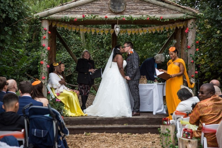Couple born 15 minutes apart marry on 30th birthday