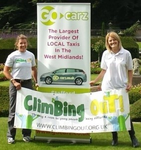 Kelda Wood of Climbing Out (left) and Mandy Morris of Go Carz (right).