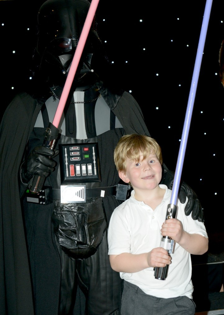 Jasper Hall (8) who recently celebrated his birthday at the hotel with a Jedi training party.