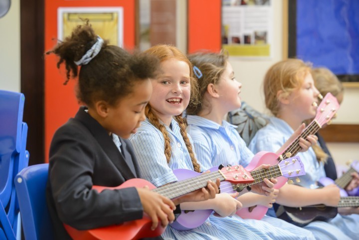 Students at Staffordshire school tuning up for music festival