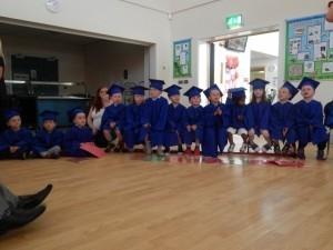 Children graduating from ABC Lightmoor