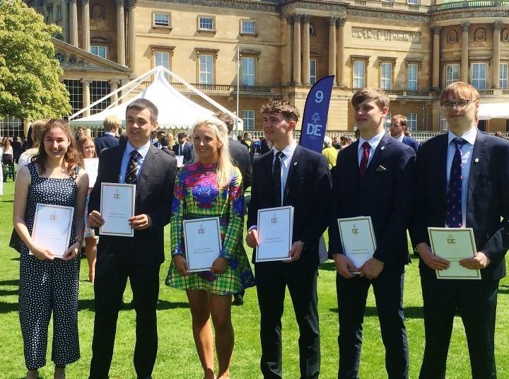 Shropshire students celebrate gold DofE awards at Buckingham Palace