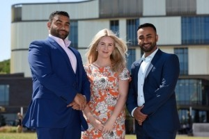 Sham Uddin (L) with his wife Laura (M), owners of the new restaurant Four Corners World Buffet and brother Amin Uddin (R) who will be managing the restaurant on Southwater.