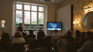 Helen Culshaw, of Ascendancy in Shifnal, presenting at a national healthcare summit.