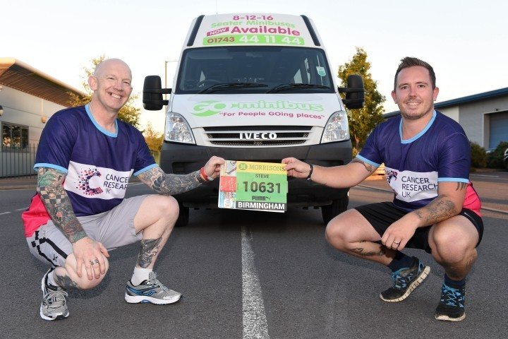 Father and son team tackle half marathon for charity