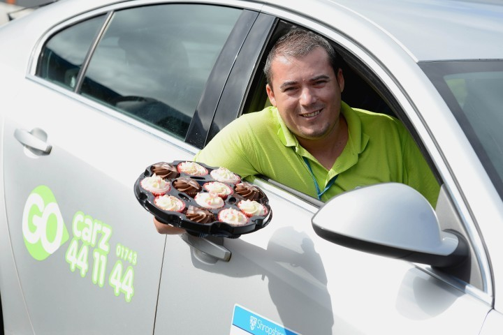 Cakes on offer for taxi passengers as part of charity campaign