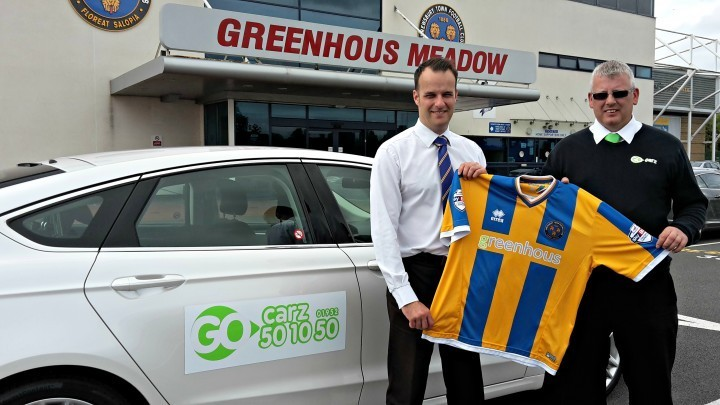 Taxi firm signs for Shrewsbury Town
