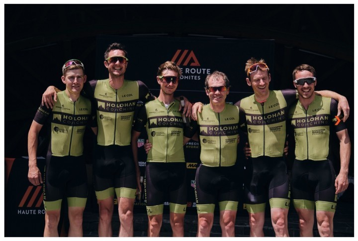 Holohan Coaching Race Team celebrating success in Italy
