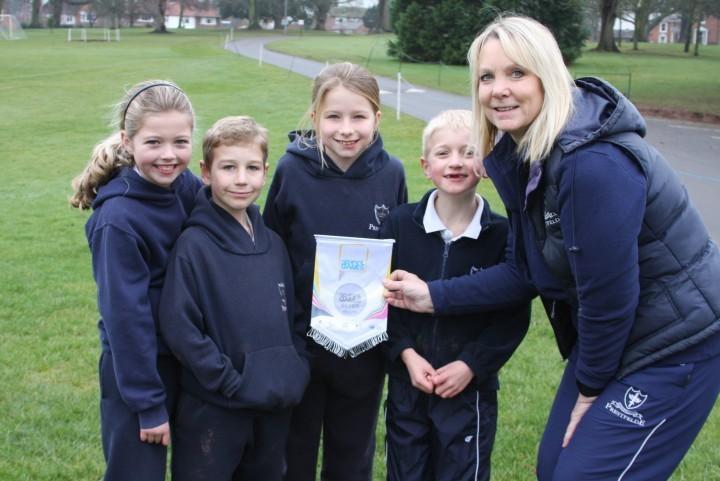 School celebrates sporting accolade