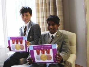 ylan Tyack and Sushant Amarnath, the two Year 7 gold winners.