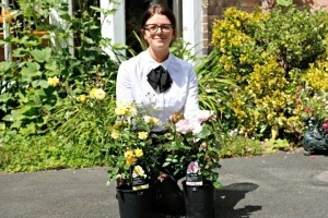 Sarah Perkins, of The Valley, with some of the plants ready for the memory garden.