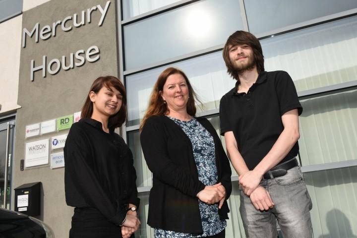 L-R - Alisha Patel-Smith, Katy Jones and Matthew Forster from PC Net Solutions.