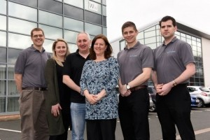 Paul and Katy Jones (centre) and the team at Network Support Solutions.