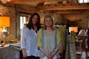 Interior designer Bronwyn Picton Jones (left) pictured with interior designer Sarah Cavendish (right), owner of The Loft show room.