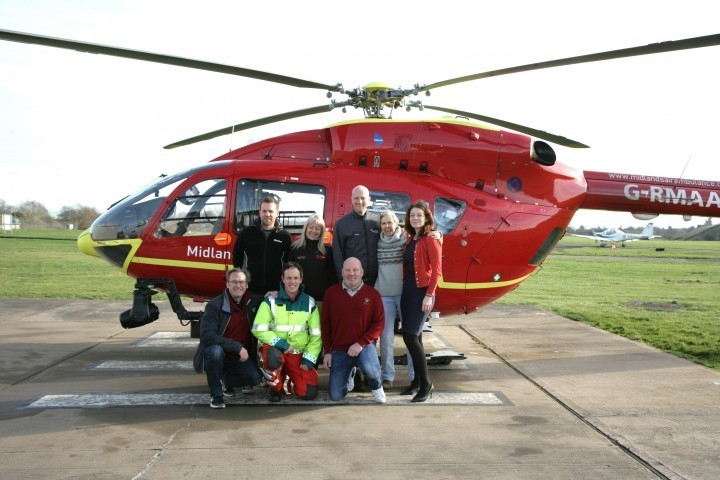 Shropshire business network raises enough money to save two lives for the Midlands Air Ambulance