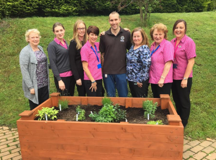New planters at Shropshire GP surgery made by patients with mental health challenges