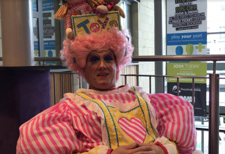 What a dress! Brad Fitt returns to Theatre Severn as Dame