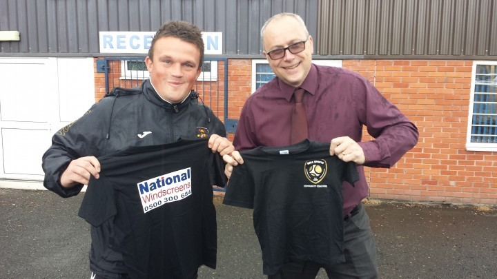 Steve Lalley of Ball Sports Community Coaching with a proud Sponsor