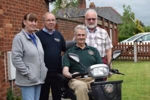 Heather Lobb, Mark Astley of Ableworld Shrewsbury, Steve Lobb and John Vernon, case manager for SSAFA Shropshire.