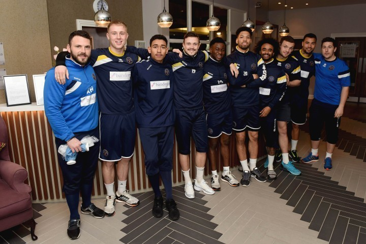 Shrewsbury Town players relax at county hotel ahead of FA Cup game