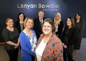 Carolyn Burgoyne with members of the Telford property team.