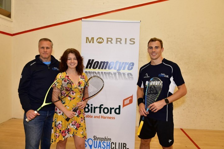 Shropshire squash club welcomes former number one star to see new facilities