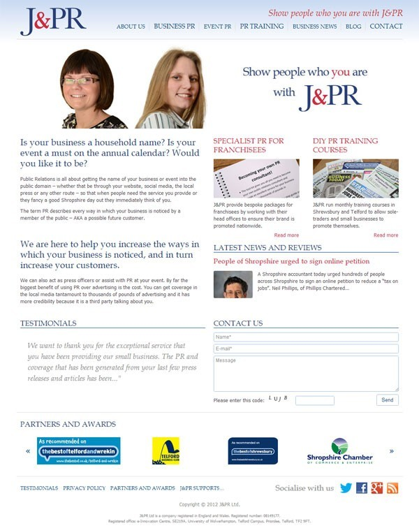 A new year and a new look re-branded company! Welcome to J&PR Ltd.