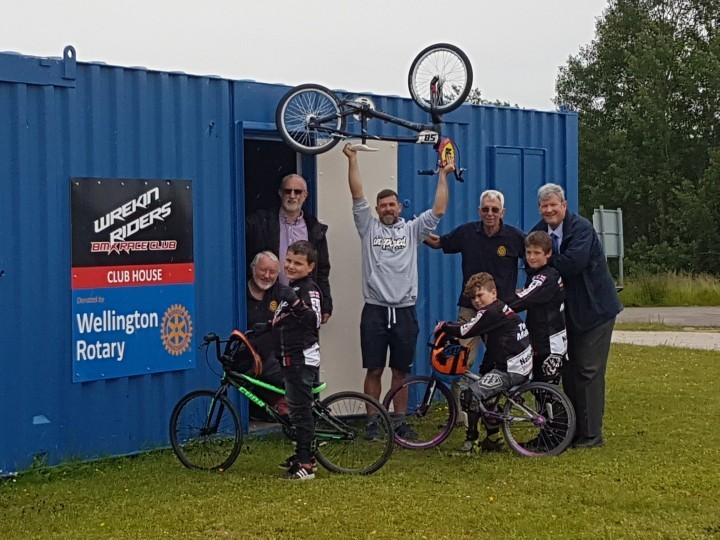 New clubhouse donated to Telford BMX club by local rotary club