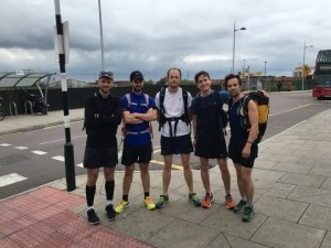 Roland Ellis, James Lightbown, Rob Jones, Alec Waterworth, Peter McCarthy during one of their trial runs.