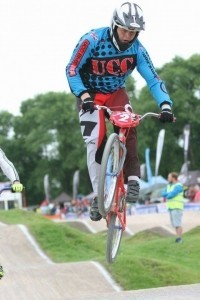 15-year-old Callum Edwards from Donnington takes the Number 1 plate in the British BMX Series on his Cruiser in the 15-16 boys category. Photocredit Cameron Smith @Smithys_photography https://m.facebook.com/Smithys-Photography