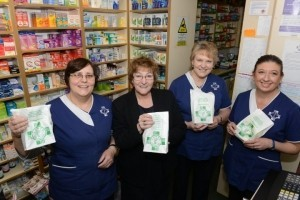 Staff at Lunts Pharmacies in Pontesbury.