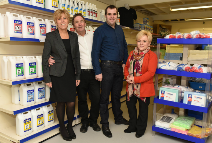 MR Cleaning team L to Right - Marie McCreadie, Rab McCreadie, Rob McCreadie and Nikki McCreadie